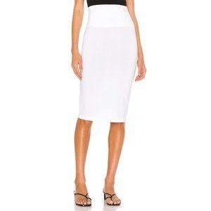 Norma Kamali X REVOLVE Straight Skirt in White